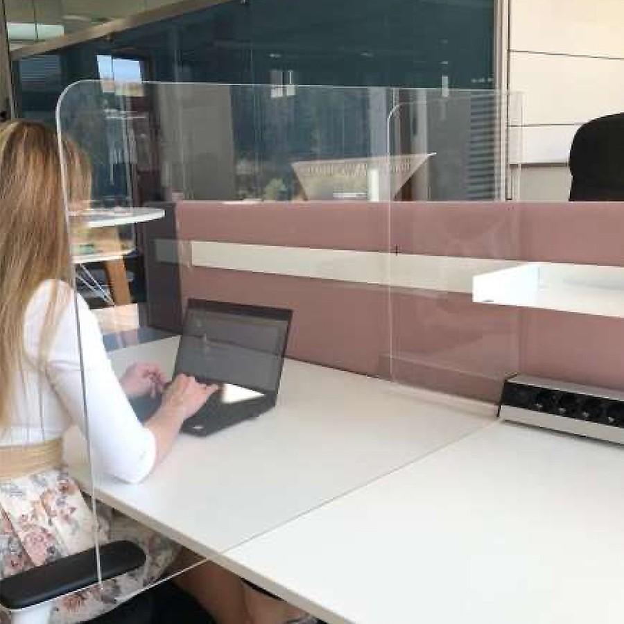 Neudoerfler Distanz Screen Plexiglas 4er Pack - Schreibtisch Trennwand - Spuc... ND11019