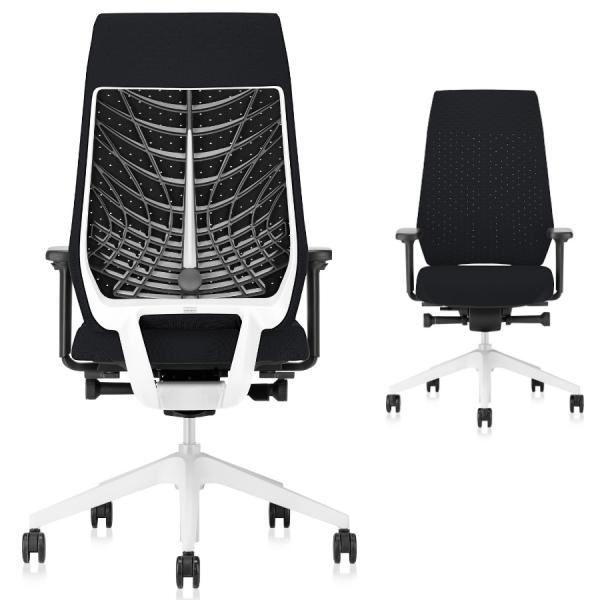 Interstuhl JOYCEis3 JC317 Bürostuhl mit Softback hoch Farbe schwarz hellgrau