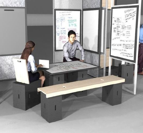 wp office X-Bench 200 x 36,4 x 6,5 cm