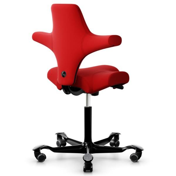 HAG CAPISCO 8106 Stoff Xtreme rot mit Gestell schwarz - Rückansicht