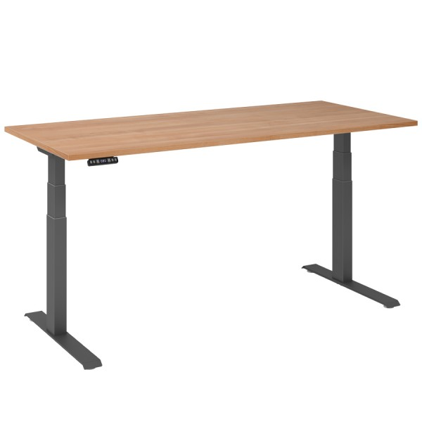 RWH RAPID Schreibtisch elektrisch verstellbar - Nussbaum - 180 cm Breite