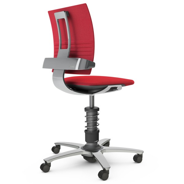 Aeris 3Dee Bürostuhl Capture rot Standard-Feder - Gestell/Feder hochglanz poliert