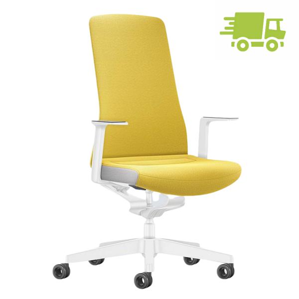 Interstuhl PURE INTERIOR Edition Bürostuhl mit Polsterrücken - Variante gelb