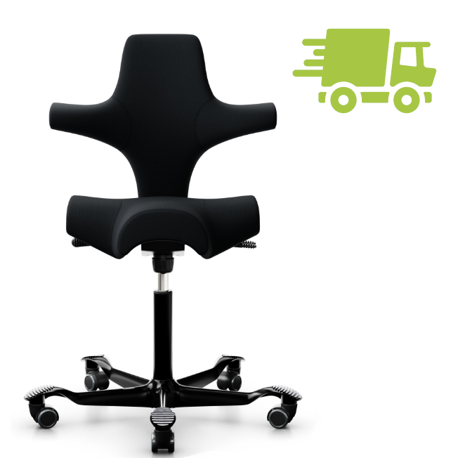 HAG Capisco 8106 Sattelstuhl Bürostuhl in Stoff Select schwarz HAG100168