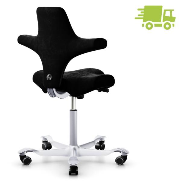 HAG CAPISCO 8106 Stoff Comfort+ schwarz mit Sattelsitz - Rückansicht
