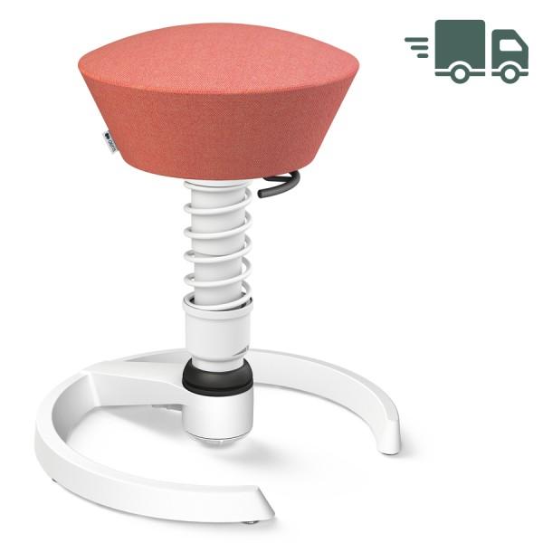 Aeris Swopper Capture Wolle rosa-rot meliert - Gleiter - Gestell weiß - Standardfeder