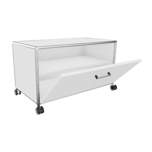 Bosse TV-Board 1 OH  Breite 80 cm in Melamin Weiß mit Klappe