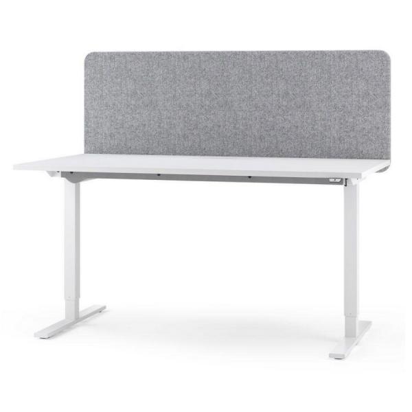 Schreitbisch High mit Tischaufsatz grau