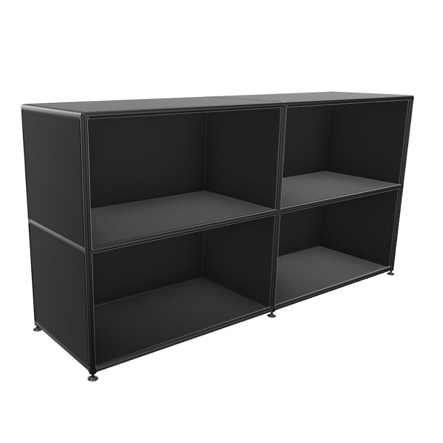 BOSSE Regal Black Edition Höhe 2 OH Breite 160 cm BO201300