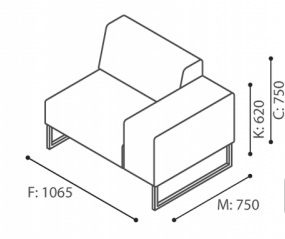Bejot-PLINT-Modulsessel-Akustiksessel-altrosa-Stoff-Sawana-1-Sitzer-mit-hohen-Ruckwanden