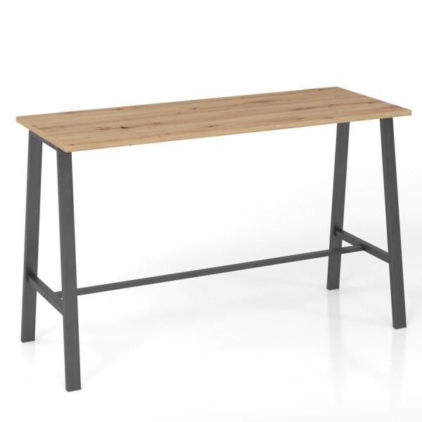 RWH Stehtisch Alina Asteiche - Gestell Stahlrohr grau