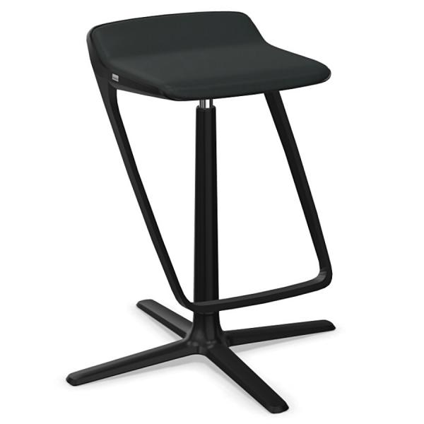 Interstuhl KINETICis5 710K Barhocker mit Fußraste Gestell schwarz Sitz schwarz