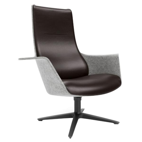 Klöber WOOOM (woo74) Lounge Sessel mit Armlehnen ohne Ohren