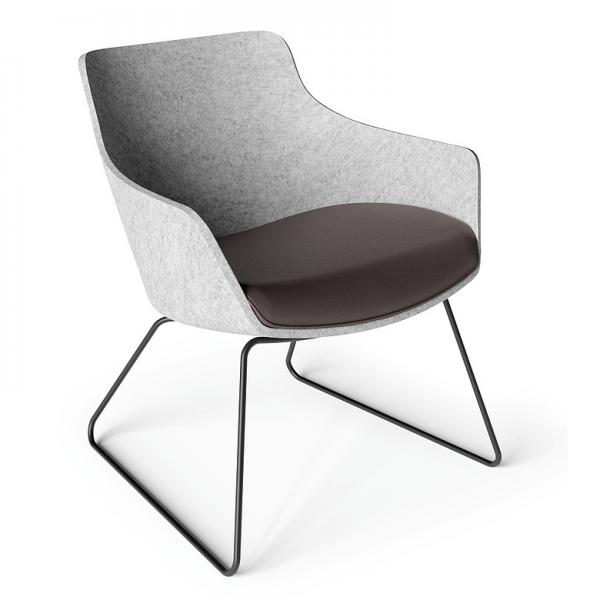 Klöber WOOOM (woo57) Sessel niedrig mit Kufengestell ohne Armlehnen