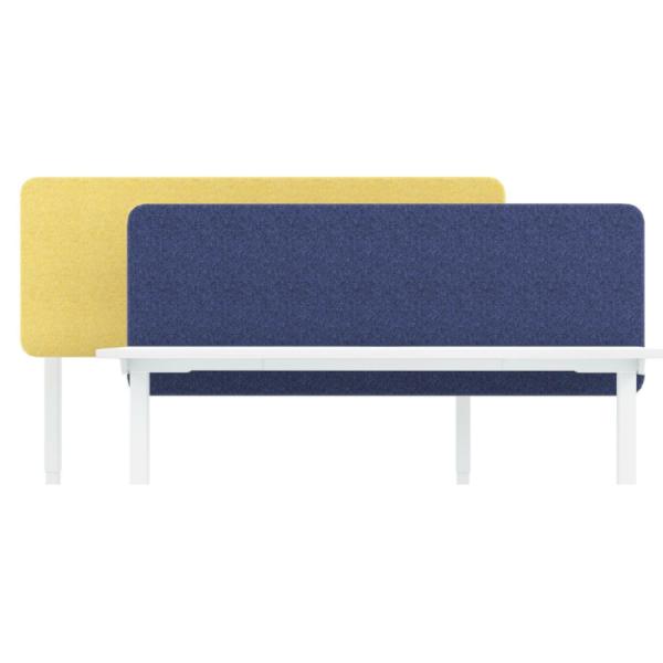 Tischaufsatz für Schreibtisch HIGH blau weiß