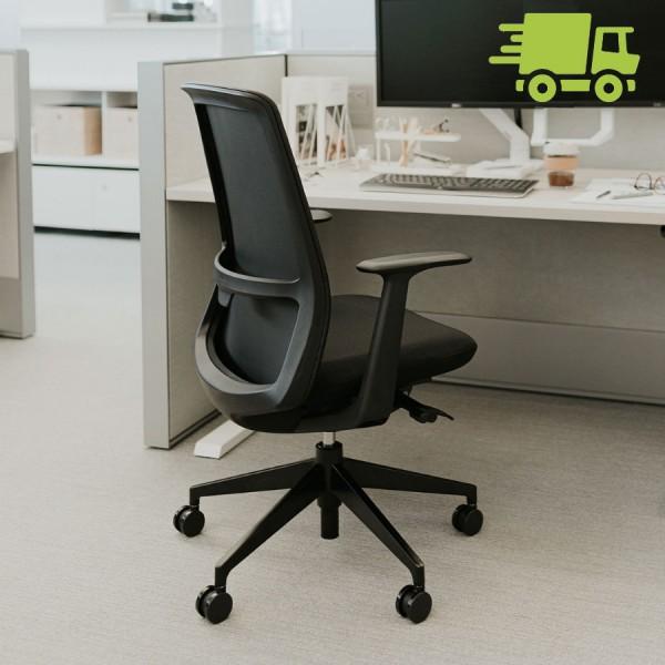 HAWORTH Soji Bürodrehstuhl schwarz mit Netzrücken