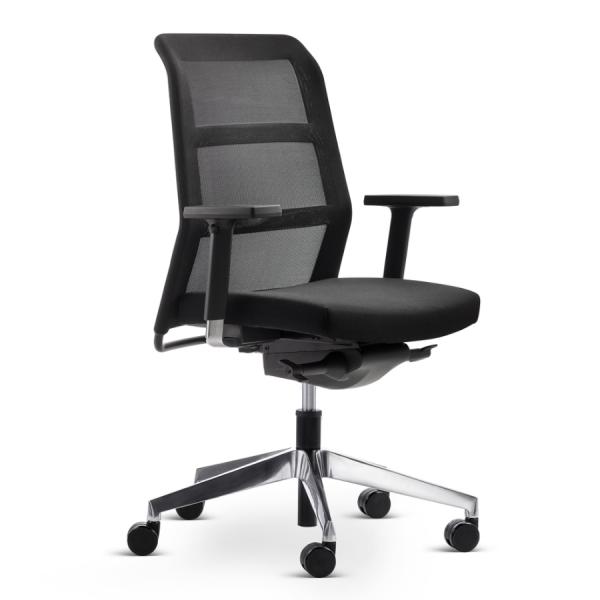 Wiesner Hager PARO2 Bürostuhl in schwarz mit normaler Rückenlehne - Express Modell