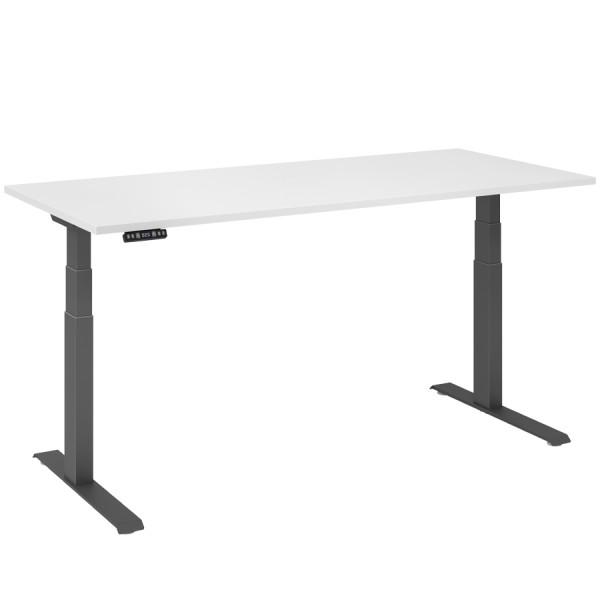 RWH RAPID Schreibtisch elektrisch verstellbar - weiß/graphit - 180 cm Breite