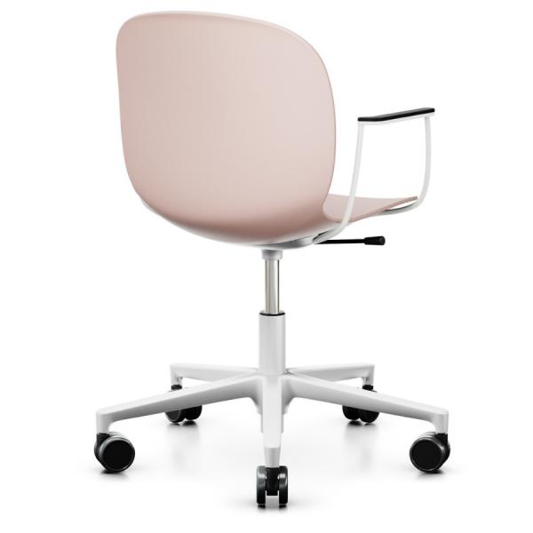 RBM Noor (6070) Bürostuhl Konferenzstuhl höhenverstellbar auf Rollen Sitzschale rosa