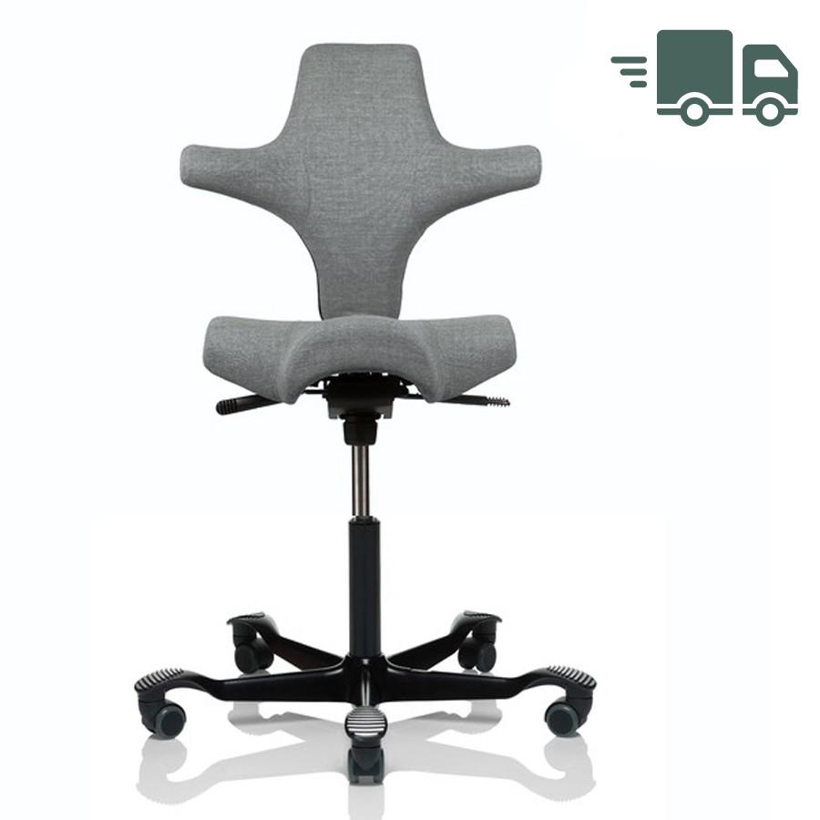 HAG CAPISCO 8106 Bürostuhl mit Sattelsitz Stoff Remix hellgrau - schnell geli... HAG10235