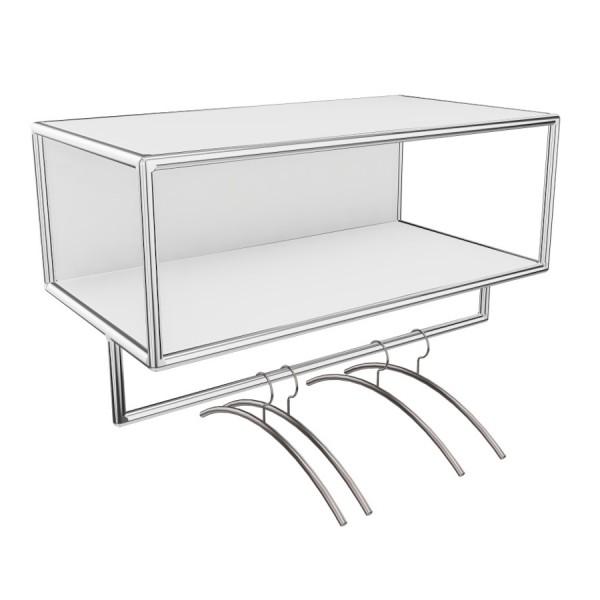Bosse Garderobe Chrom Breite 80 cm in Melamin Weiß