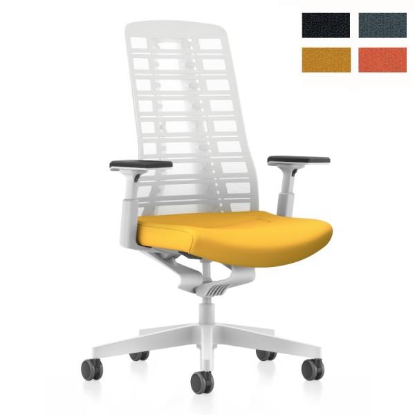 Interstuhl PUREis3 (PU21C, PU213) Bürostuhl weiß mit Netzrücken Comfort - Express Modell