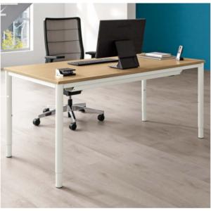Schreibtisch SINAC von Palmberg Rohr-in-Rohr-Gestell Moodbild