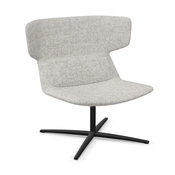 LD Seating Ohrendrehsessel FLEXI Gestell schwarz pulverbeschichtet in schwarz