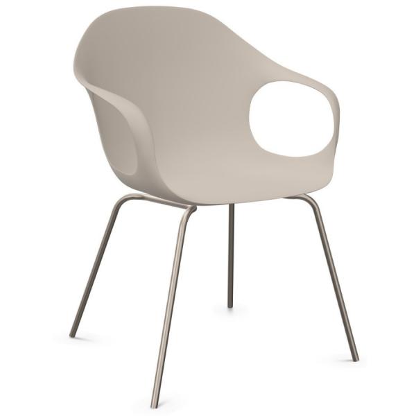 Kristalia ELEPHANT Stuhl mit Vierfußgestell Farbe beige - Frontansicht