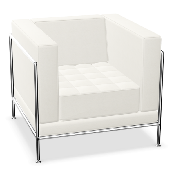Bosse Modul Space Sessel in Leder Weiß