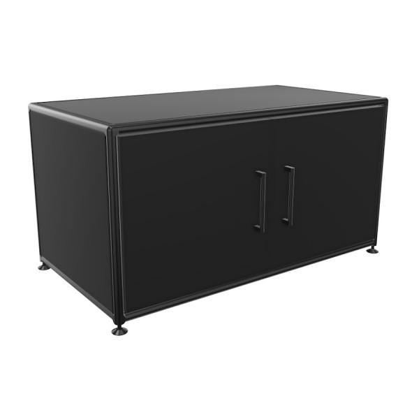 Bosse Lowboard 1 OH Black Edition schwarz Breite 80 cm mit Türen