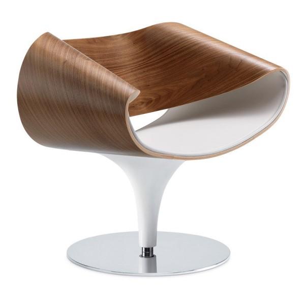 Züco PERILLO Lounge Sessel PR 182 - Innen-/Rückenfläche aus Holz