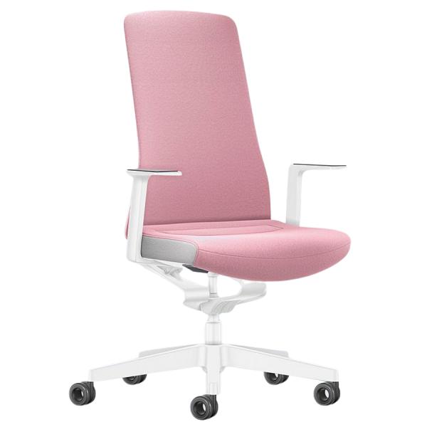 Interstuhl PURE INTERIOR Edition Bürostuhl mit Polsterrücken - Variante rosa