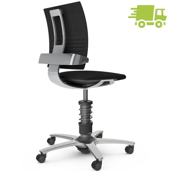 Aeris 3Dee Bürostuhl Wollmischung select schwarz Standard-Feder - Gestell/Feder hochglanz