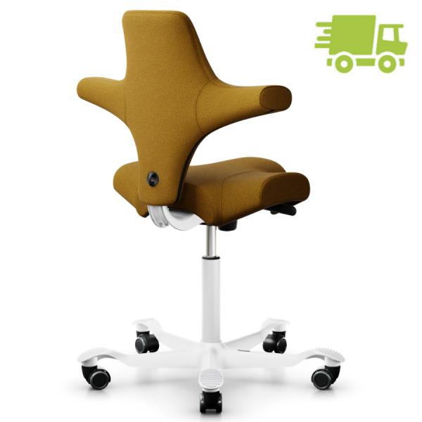 HAG Capisco 8106 Bürostuhl Stoff Capture Farbe Ocker weiß - schnell geliefert