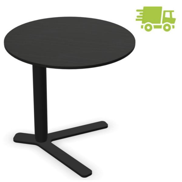 lapalma YO Beistelltisch schwarz mit runder Platte höhenverstellbar - schnell geliefert