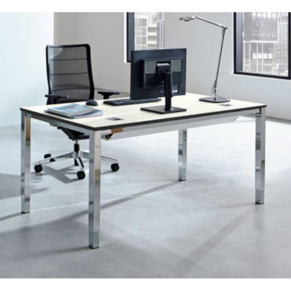 Palmberg SINAC Schreibtisch Vierfuß Quadratrohr - schnell geliefert