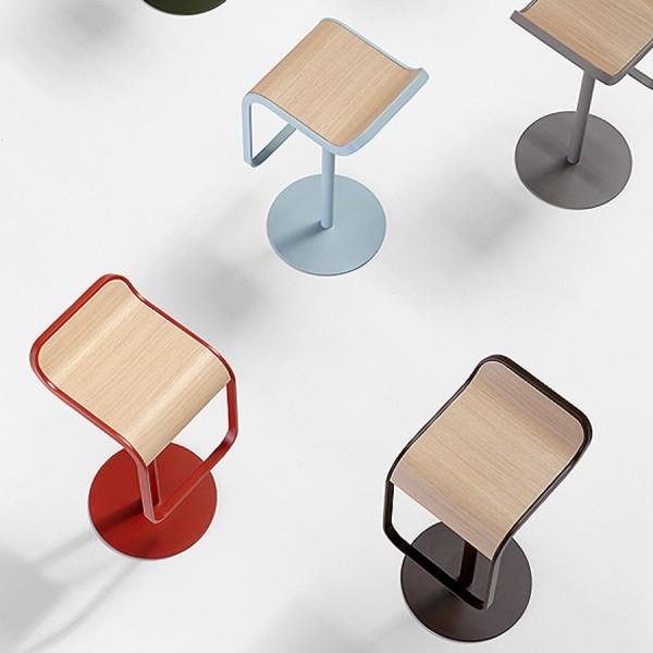 LEM Barhocker - Sitzfläche Holz Eiche gebleicht - neue Farben