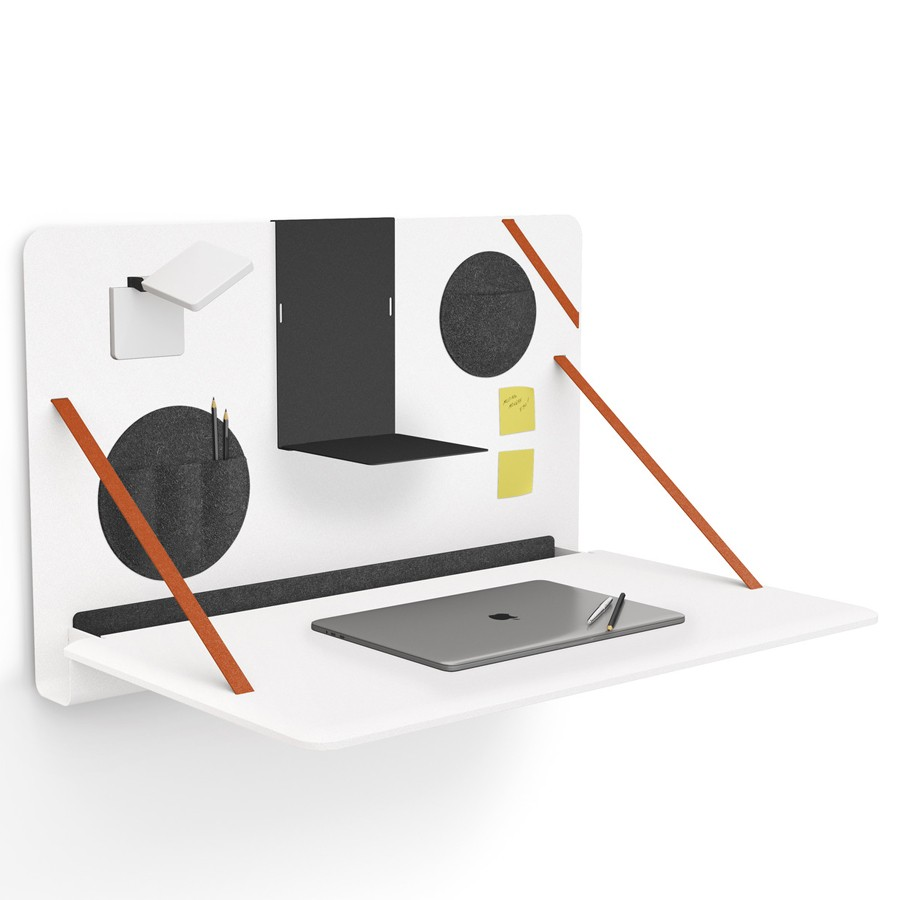 Brunner notebook - aufklappbarer Wandschreibtisch in Weiß BR200101
