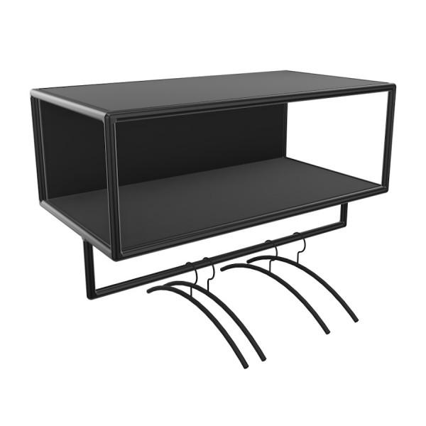 Bosse >Garderobe Black Edition Breite 80 cm in Melamin Schwarz