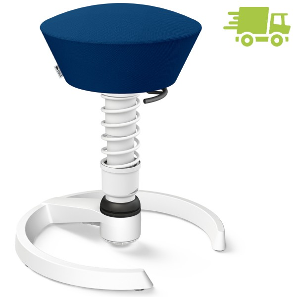 Aeris Swopper Select Wolle blau - Gleiter - Gestell weiß - Standardfeder