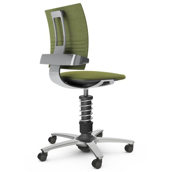 Aeris 3Dee Bürostuhl Capture grün High-Feder - Gestell/Feder hochglanz poliert