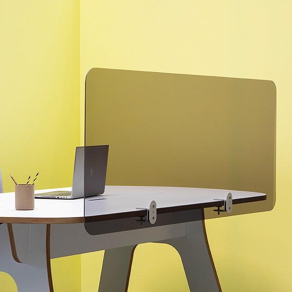 Cascando Acrylglas getönt Schreibtisch Trennwand mit Klemmbefestigung - verschiedene Größen