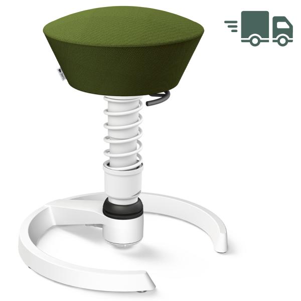 Aeris Swopper Select Wolle grün - Gleiter - Gestell weiß - Standardfeder