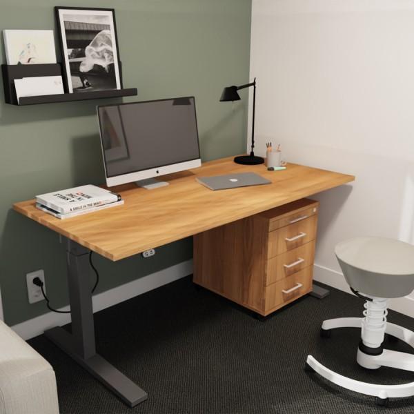 RWH Action Schreibtisch elektrisch verstellbar - Nussbaum - Container