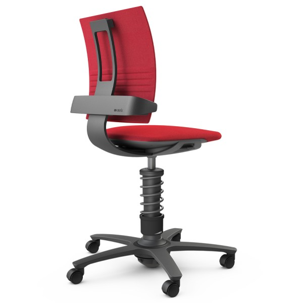 Aeris 3Dee Bürostuhl Capture rot High-Feder - Gestell schwarz
