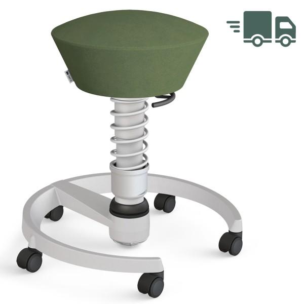 Aeris Swopper Mikrofaser Comfort grün - Rollen - Gestell hellgrau - Standardfeder