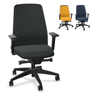 Interstuhl EVERYis1 (EV311) Bürostuhl schwarz mit Chillback Rückenlehne