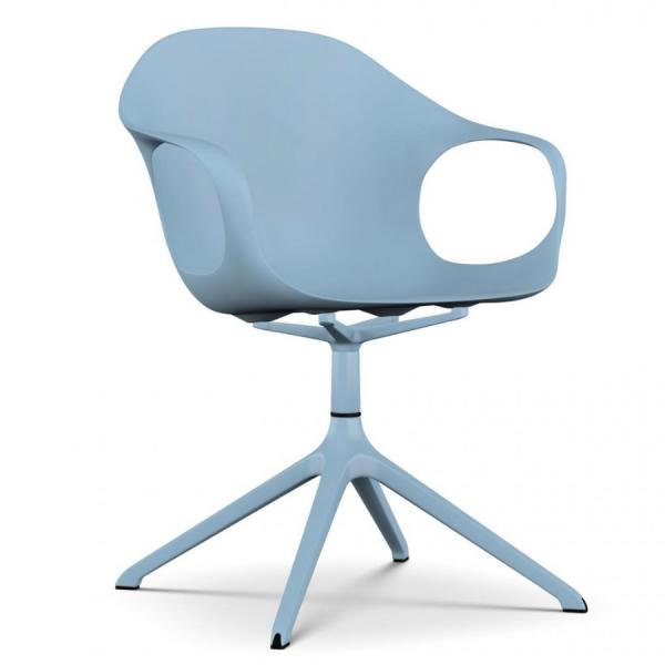 Kristalia ELEPHANT Drehstuhl Sitzschale blau Gestell blau