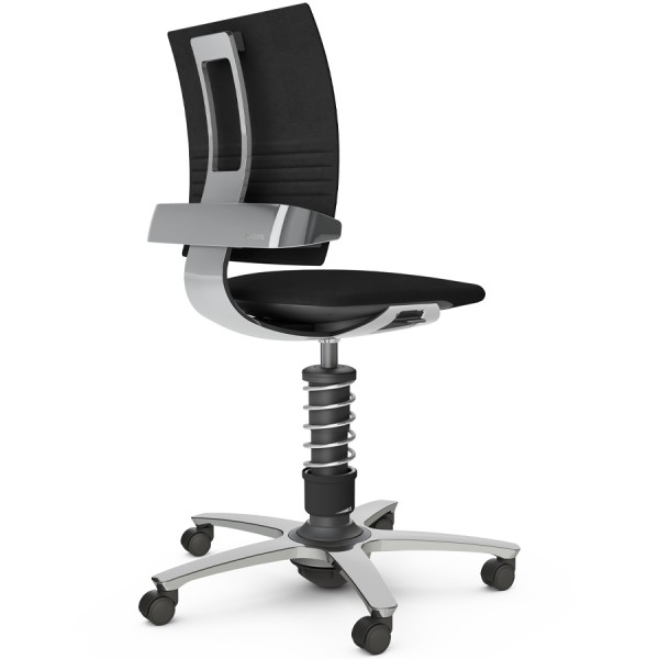Aeris 3Dee Bürostuhl Mikrofaser schwarz High-Feder - Gestell/Feder hochglanz